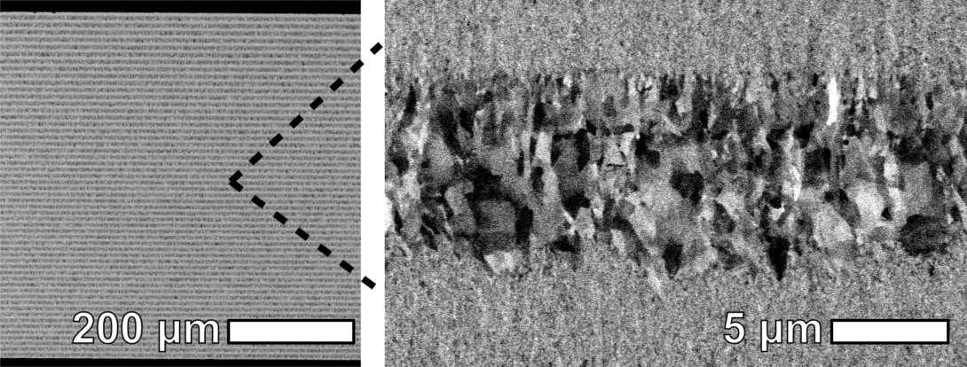 Multilayer with nanocrystalline and coarse-grained components